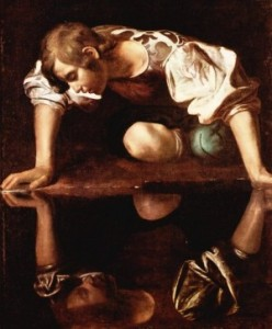 painting of Narcissus by Italian painter Caravaggio